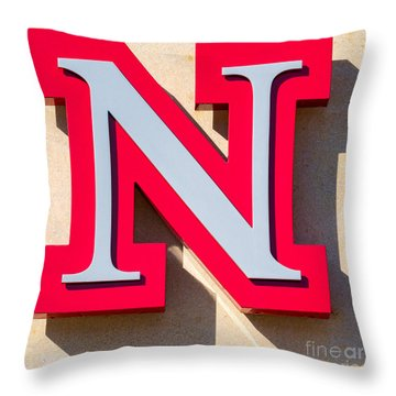 UNL Throw Pillow by Jerry Fornarotto