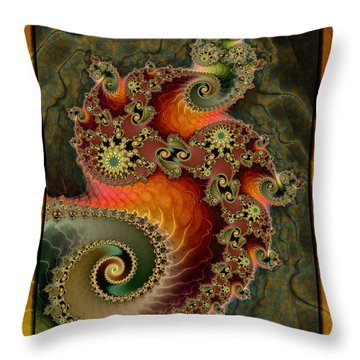 Unleashed Dragon Throw Pillow by Kim Redd