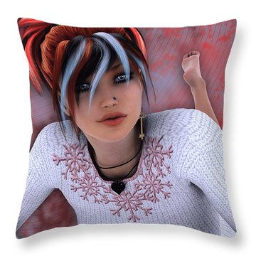 Unlock My Heart Throw Pillow