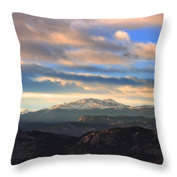 The Unmatched Beauty Of The Colorado Rockies Throw Pillow