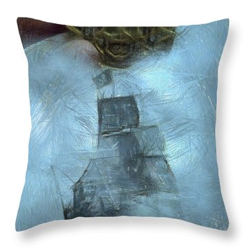 Unnatural Fog Throw Pillow by Benjamin Dean