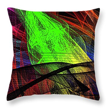 Unraveled 1 Version 2 Throw Pillow
