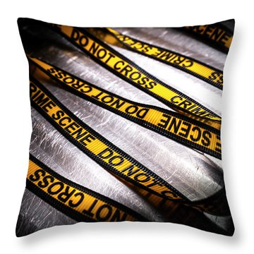 Unravelling Crime Investigation Throw Pillow