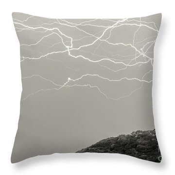 Unreal Lightning Throw Pillow