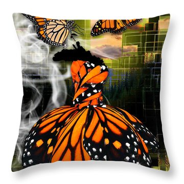 Throw Pillow featuring the mixed media Unrestricted by Marvin Blaine