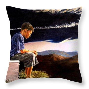 Unscarred Mountain Throw Pillow