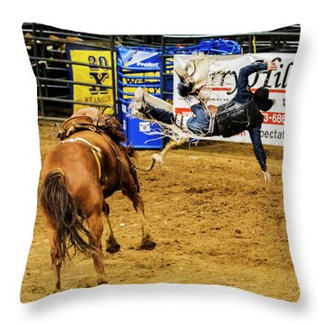 Unseated Throw Pillow