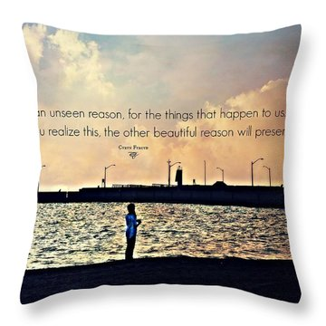 Unseen Reason Throw Pillow