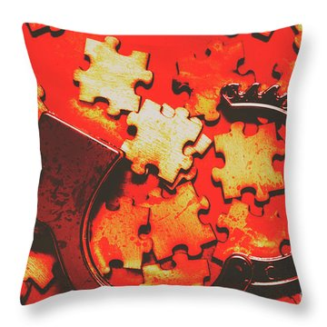 Unsolved Crime Throw Pillow