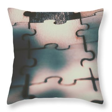 Unsolved Puzzle Throw Pillow