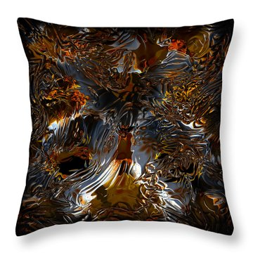 Throw Pillow featuring the digital art Unsong by Vadim Epstein