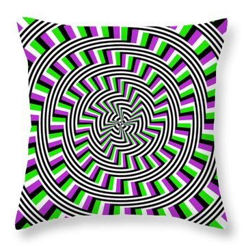 Self-moving Unspiral Throw Pillow