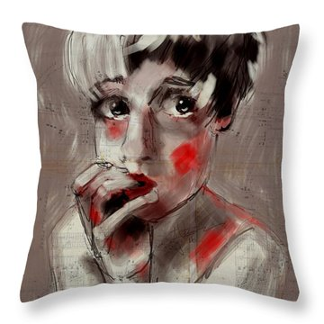 Unsure Throw Pillow by Jim Vance