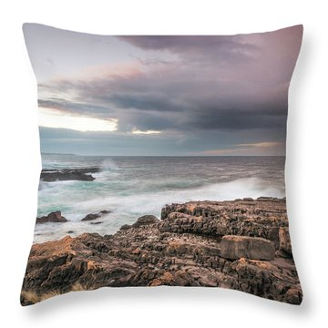 Untamed Coast Throw Pillow
