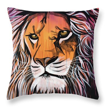Throw Pillow featuring the painting Untamed Goodness by Nathan Rhoads