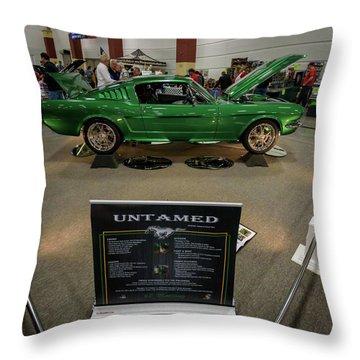 Untamed Throw Pillow by Randy Scherkenbach