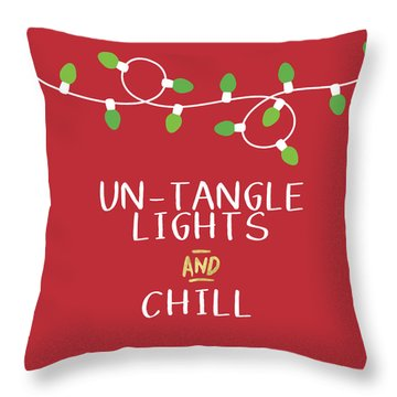 Untangle Lights And Chill- Art By Linda Woods Throw Pillow
