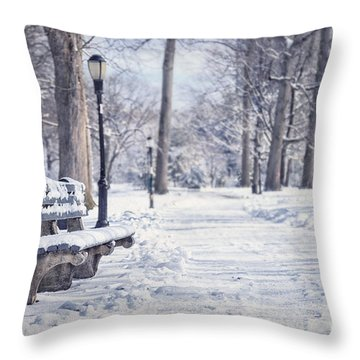 Until It Melts Away Throw Pillow