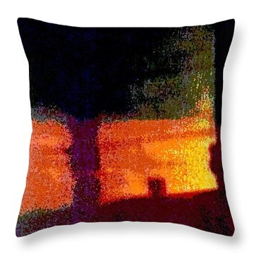 Untitled 1 - By The Window Throw Pillow by VIVA Anderson