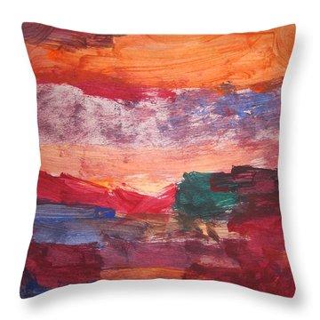 untitled 109 Original Painting Throw Pillow