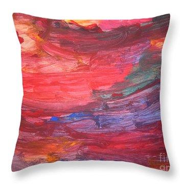 untitled 110 Original Painting Throw Pillow