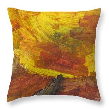 Untitled 117 Original Painting Throw Pillow