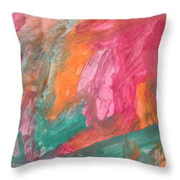 Untitled 119 Original Painting Throw Pillow