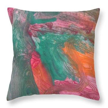 Untitled 121 Original Painting Throw Pillow