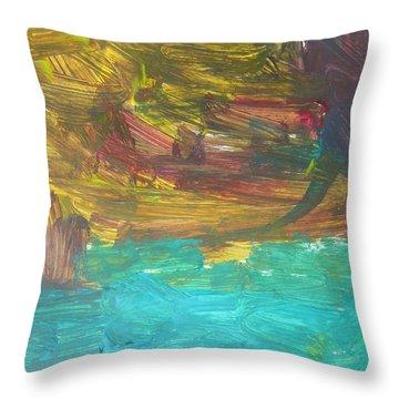 Untitled 126 Original Painting Throw Pillow