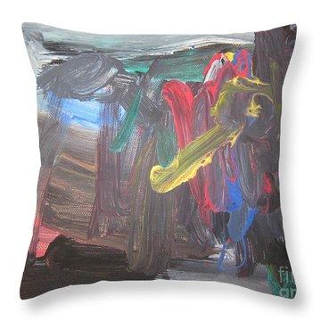 Untitled 128 Original Painting Throw Pillow