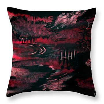 Untitled-140 Throw Pillow