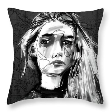 Throw Pillow featuring the digital art Untitled - 21aug2017 by Jim Vance