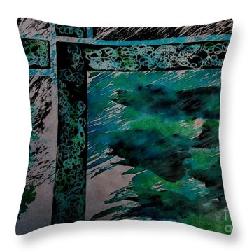 Fencing-1 Throw Pillow