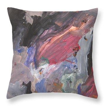 Untitled #6  Original Painting Throw Pillow