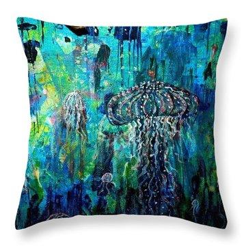 Ocean Deep Throw Pillow