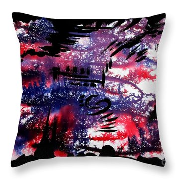 Untitled-80 Throw Pillow