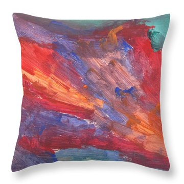 Untitled 95 Original Painting Throw Pillow