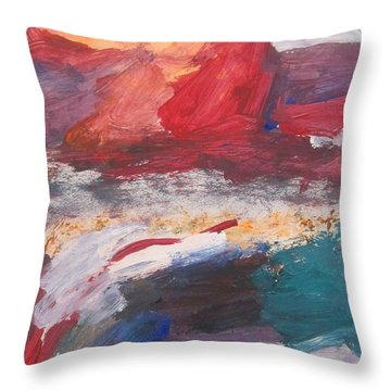 Untitled 98 Original Painting Throw Pillow