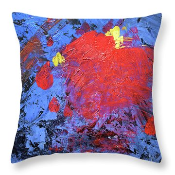 Untitled Abstract-7-817 Throw Pillow