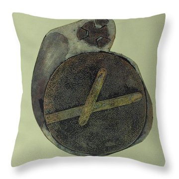 Throw Pillow featuring the mixed media Untitled by Erika Chamberlin