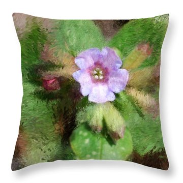 Untitled Floral -1 Throw Pillow by David Lane