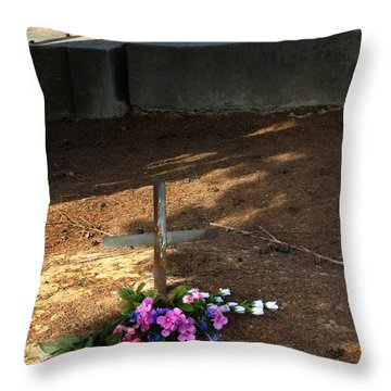 Untitled Grave Throw Pillow by Peter Piatt