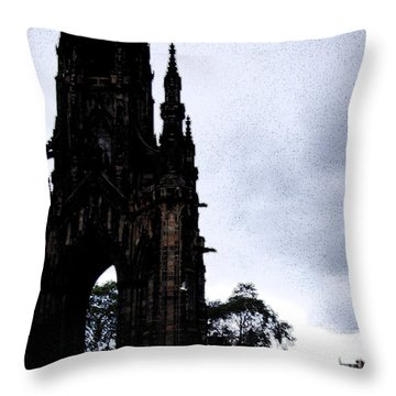 Throw Pillow featuring the photograph The Scott Monument by Janelle Dey