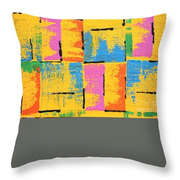 Abstract I See You Throw Pillow