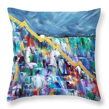 Throw Pillow featuring the painting Untitled by Judith Rhue