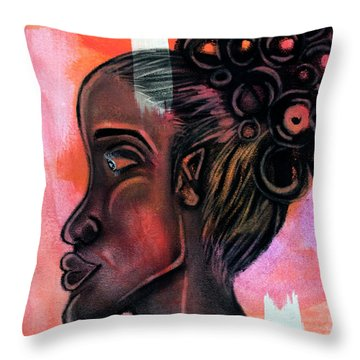 Untitled Lady II Throw Pillow