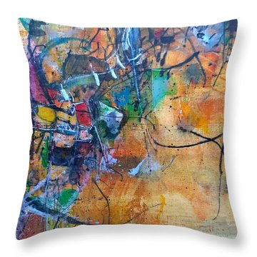 Untitled Or Ink Flow Throw Pillow