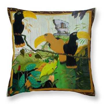 Jungle Boogie 2 Throw Pillow by Patrick Trotter