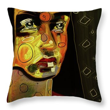 Throw Pillow featuring the digital art Untitled Portrait - 03aug2017 by Jim Vance