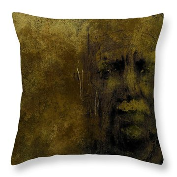Throw Pillow featuring the digital art Untitled Portrait 06june2015 by Jim Vance